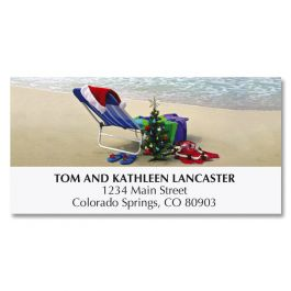 Hawaiian Holiday Deluxe Address Labels
