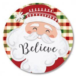 Santa on Plaid Seals
