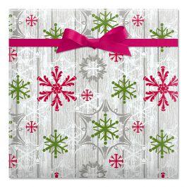 Wood Wash Flakes Jumbo Rolled Gift Wrap