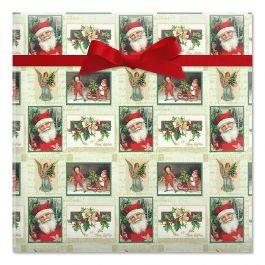 Santa Squares Jumbo Rolled Gift Wrap