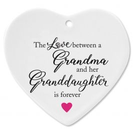 Grandma/Granddaughter Heart Ornament