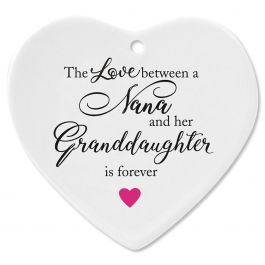 Nana/Granddaughter Heart Ornament