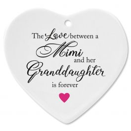 Mimi/Granddaughter Heart Ornament