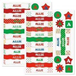 Kids Christmas Name Sticker Set - 6 Characters