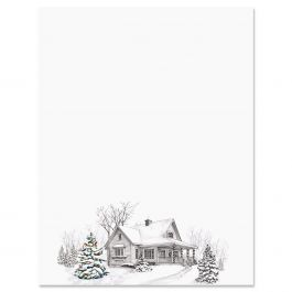 Winter Home Christmas Letter Papers