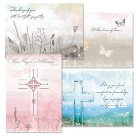 Peace & Blessings Sympathy Cards