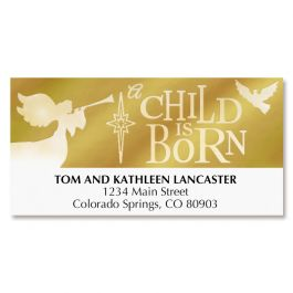 A Child Is Born Address Labels