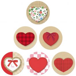 Kraft Heart Seals (6 Designs)