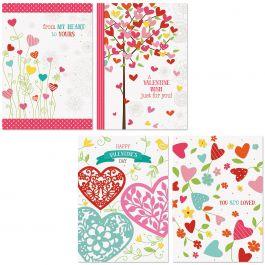 Faith Hearts & Blossoms Valentine Cards