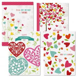 Faith Hearts & Blossoms Valentine Cards