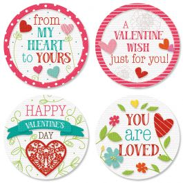 Faith Hearts & Blossoms Seals (4 Designs)