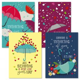 Raindrops Get Well Cards