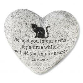 Cat Memory Heart Stone
