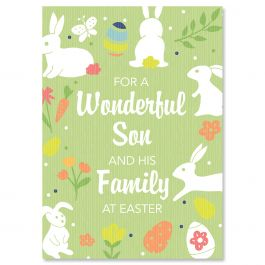 For a Wonderful Son Easter Card