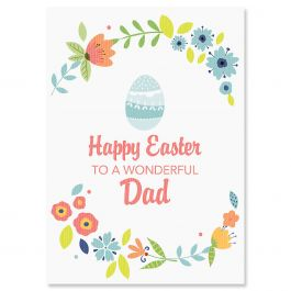 Happy Easter to Dad Easter Card