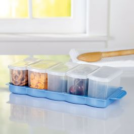 Mini Rectangle Containers with Tray