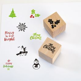 Holiday Craft Stamps - Set of 8