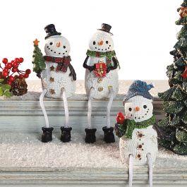 Snowmen Shelf Sitters