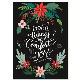 Comfort & Joy Christmas Cards - Personalized