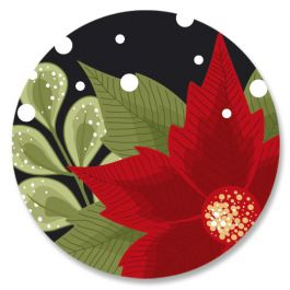 Poinsettia Border Seals