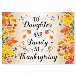 Daughter Single Thanksgiving Card
