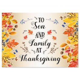 Son Single Thanksgiving Card
