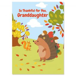 Granddaughter Thanksgiving Card