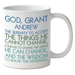 For Him Serenity Prayer Personalized Mug