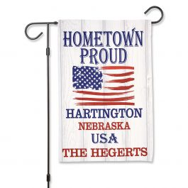 Hometown Proud Personalized Garden Flag