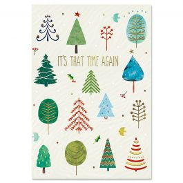Whimsical Forest Deluxe Christmas Cards - Personalized
