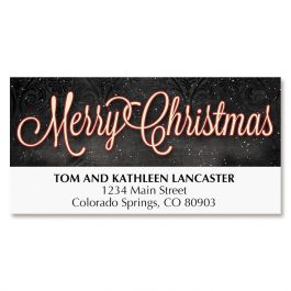 Tree on Black Deluxe Address Labels