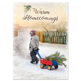 Bring Home the Tree Christmas Cards - Personalized