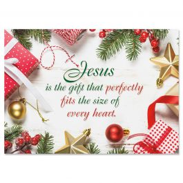 Jesus is the Gift Christmas Cards - Personalized