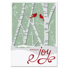 Birch Forest Deluxe Christmas Cards - Personalized