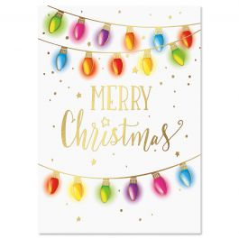 Lights Deluxe Christmas Cards - Personalized