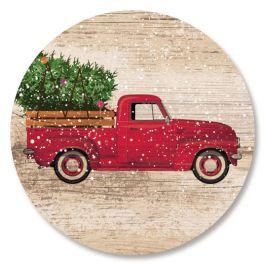 Red Truck Christmas Seals