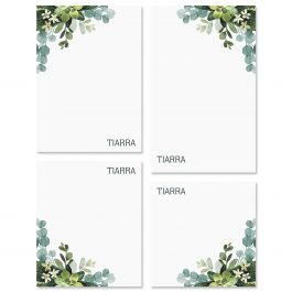 Olive Bloom Personalized Notepad Set