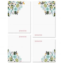 Aubrey Floral Personalized Notepad Set