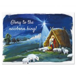 Camping Christmas Cards.Glory To God Religious Christmas Cards