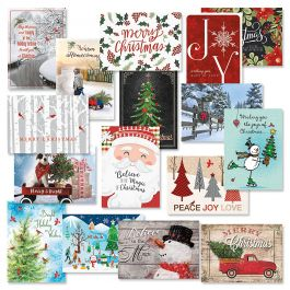 Classic Christmas Card Value Pack - Set of 32