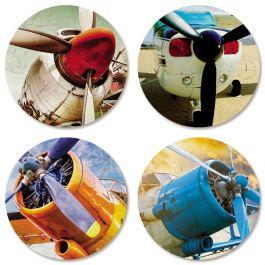 Retro Planes Seals (4 Designs)