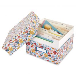 Blossom Greeting Card Organizer Box