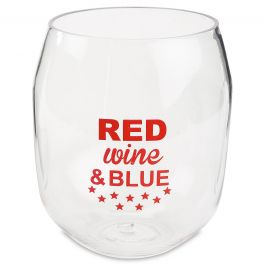Red Wine and Blue Unbreakable Wine Tumbler