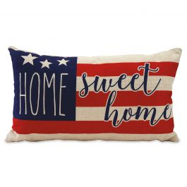 Home Sweet Home Patriotic Pillow