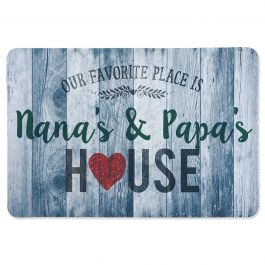 Personalized Favorite Place Doormat Gray