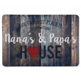 Personalized Favorite Place Doormat Brown