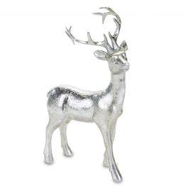 Standing Silver Reindeer Figurine