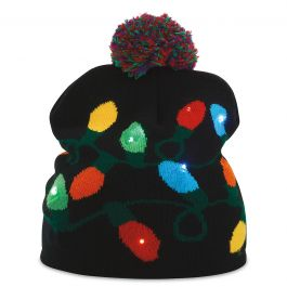 Christmas String Lights Light-Up Stocking Cap