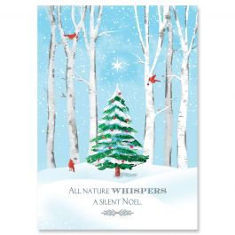 Whimsical Forest Christmas Cards - Personalized