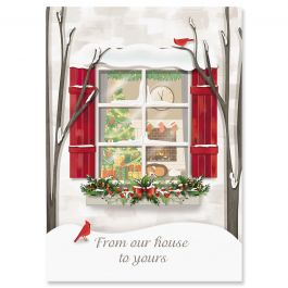 Holiday Window Christmas Cards - Personalized